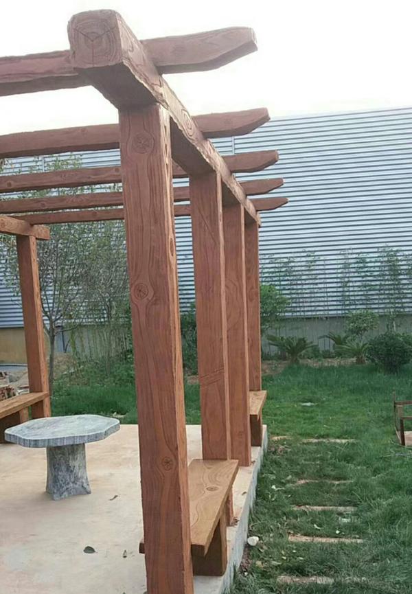 仿木栏杆廊架