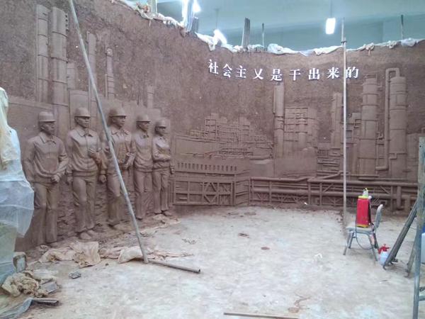 银川社会博物馆泥稿